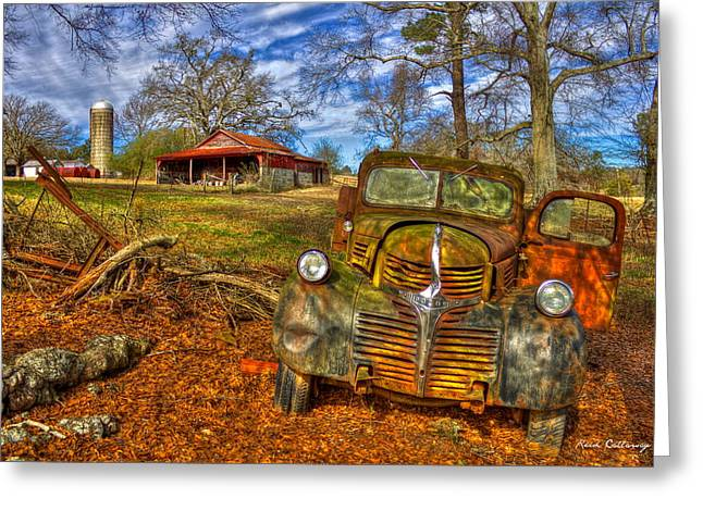 1947 Dodge Dump Truck Country Scene Art Greeting Card