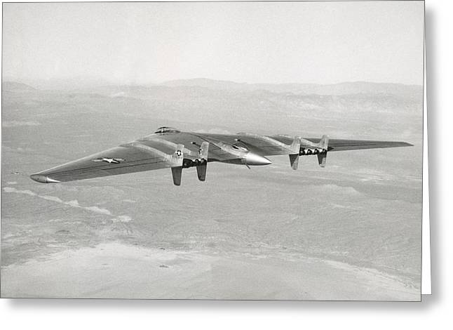 Greeting Card featuring the photograph 1947 Northrop Flying Wing by Historic Image