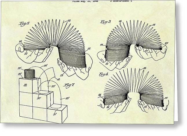 1947 Slinky Patent Greeting Card by Dan Sproul