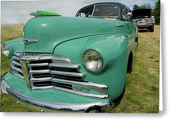 1947 Two-tone Chevrolet Fleetmaster 4-door Sedan Greeting Card