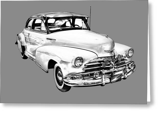 1948 Chevrolet Fleetmaster Antique Car Illustration Greeting Card by Keith Webber Jr