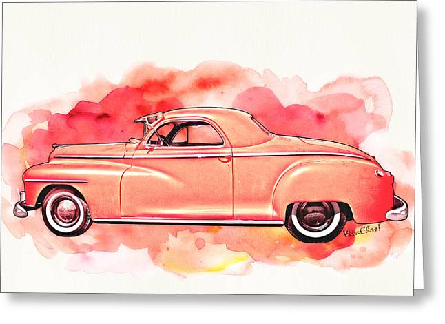 1948 Dodge Coupe As Seen In Luckenbach Texas By Vivachas Greeting Card