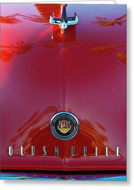1948 Oldsmobile Hood Ornament 2 Greeting Card