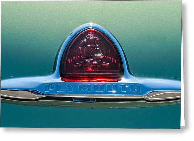 1948 Plymouth Coupe Emblem -0190c Greeting Card