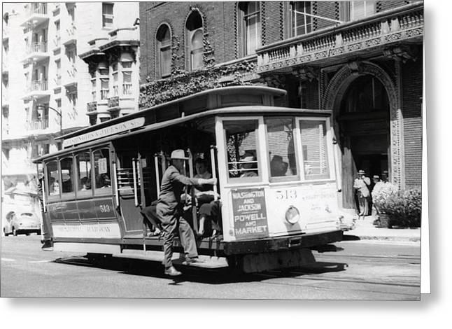 1948 San Francisco Cable Car 513 Greeting Card by Historic Image