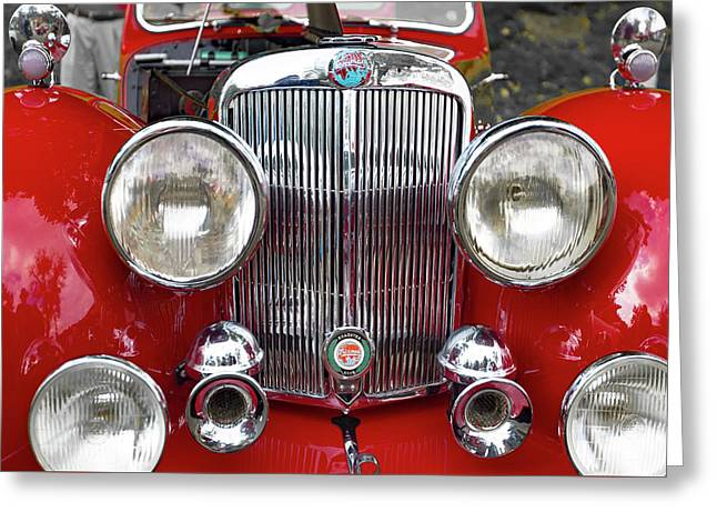 1948 Triumph 1800 Roadster Greeting Card by Jack R Perry