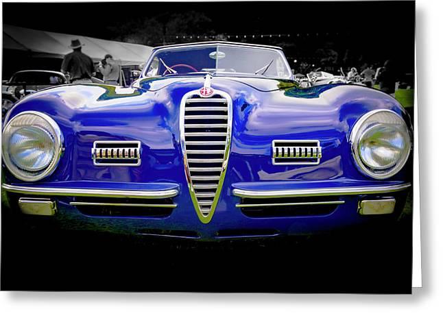 1949 Alfa Romeo 6c25 Swb Cabriolet 6c25 Swb Cabriolet Greeting Card by Jack R Perry