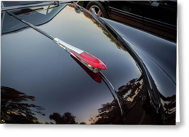 1949 Chevrolet Coupe Hood Ornament  Greeting Card by Rich Franco