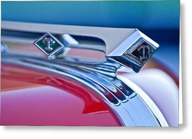 1949 Diamond T Truck Hood Ornament 3 Greeting Card by Jill Reger