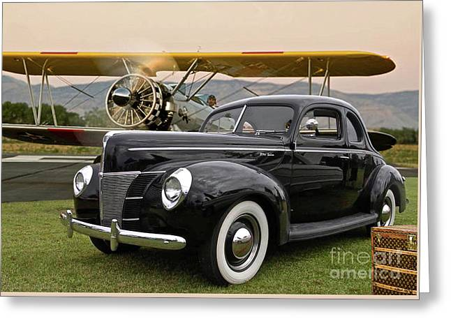 1949 Ford Coupe, Boeing - Stearman Biplane, The Most Interesting Man In The World ' Opening Scene  Greeting Card