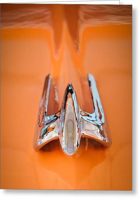 1949 Lincoln Coupe Hood Ornament Greeting Card by Jill Reger