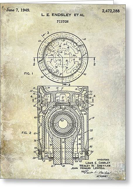 1949 Piston Patent Greeting Card by Jon Neidert