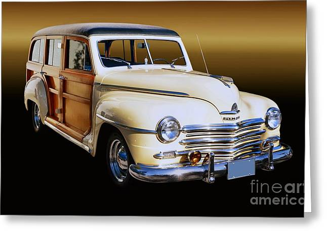 1949 Plymouth Woodie Wagon Greeting Card