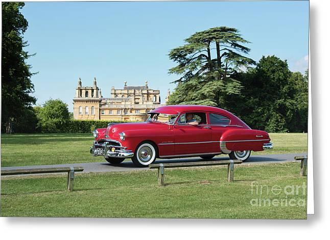 1949 Pontiac At Blenheim Palace Greeting Card