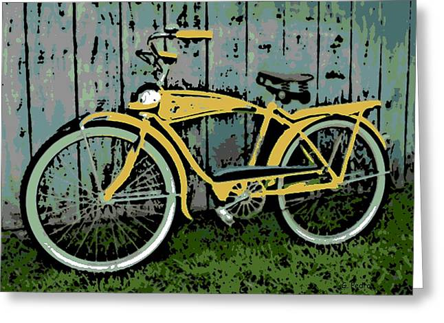 1949 Shelby Donald Duck Bike Greeting Card