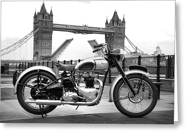 1949 Triumph T100 Greeting Card by Mark Rogan