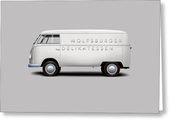 1949 Volkswagen Type 2 Prototype - Silver White Greeting Card by Ed Jackson
