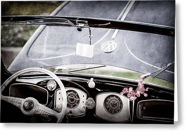 1949 Volkswagen Vw Hebmuller Cabriolet Steering Wheel -1207ac Greeting Card