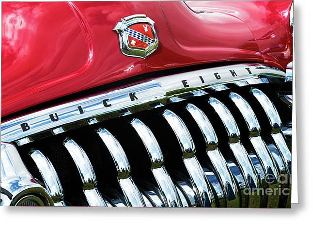 1950 Buick Eight Abstract Greeting Card by Tim Gainey