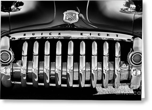 1950 Buick Eight Grille Greeting Card