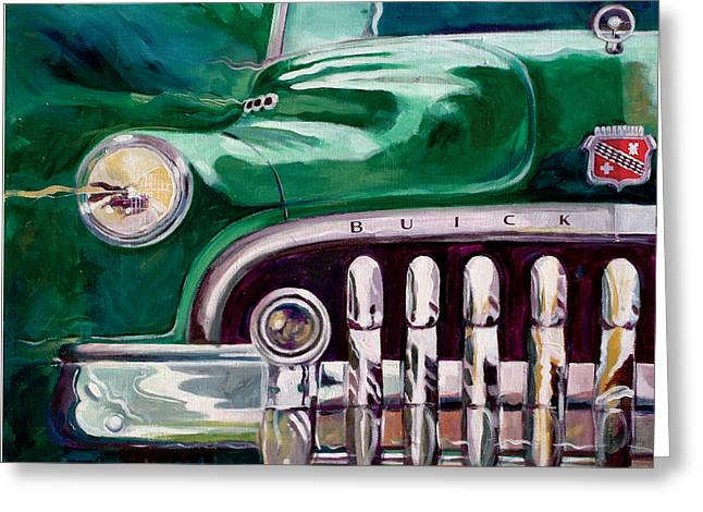 1950 Buick Roadmaster Greeting Card by Ron Patterson