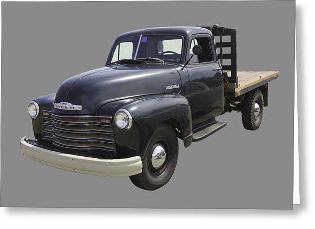 1950 Chevrolet Flat Bed Pickup Truck Greeting Card by Keith Webber Jr