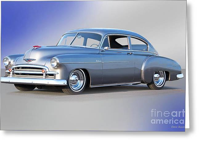 1950 Chevrolet 'sixties Style' Custom Sedan Greeting Card by Dave Koontz