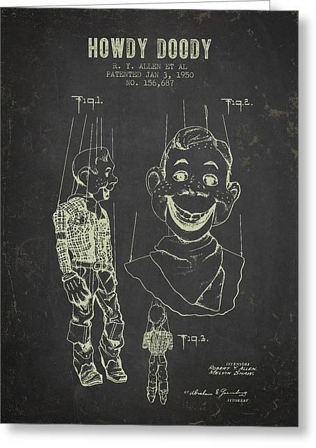 1950 Howdy Doody - Dark Grunge Greeting Card