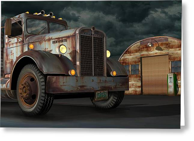 1950 Kenworth Greeting Card