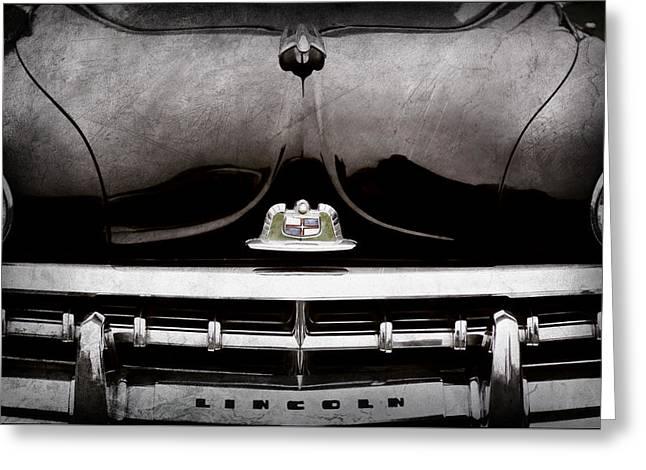 1950 Lincoln Cosmopolitan Henney Limousine Grille Emblem - Hood Ornament -0464ac Greeting Card
