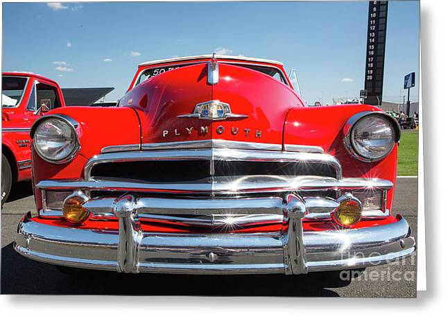 1950 Plymouth Automobile Greeting Card