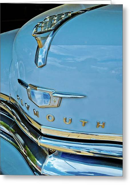 Greeting Card featuring the photograph 1950 Plymouth Coupe by Linda Unger