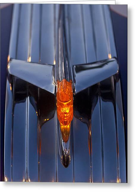1950 Pontiac Chief Hood Ornament 2 Greeting Card by Jill Reger