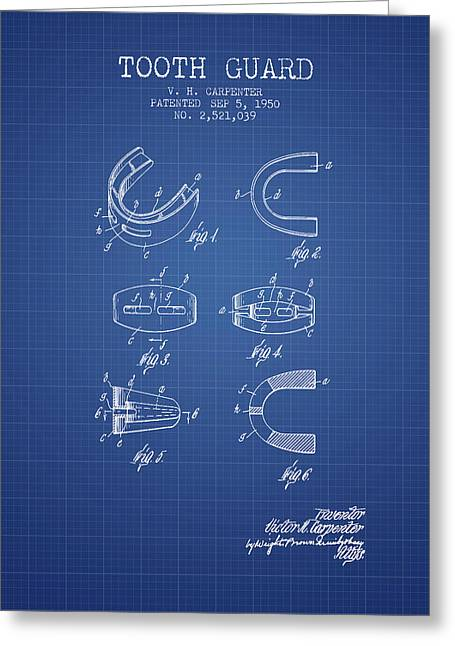 1950 Tooth Guard Patent Spbx16_bp Greeting Card by Aged Pixel