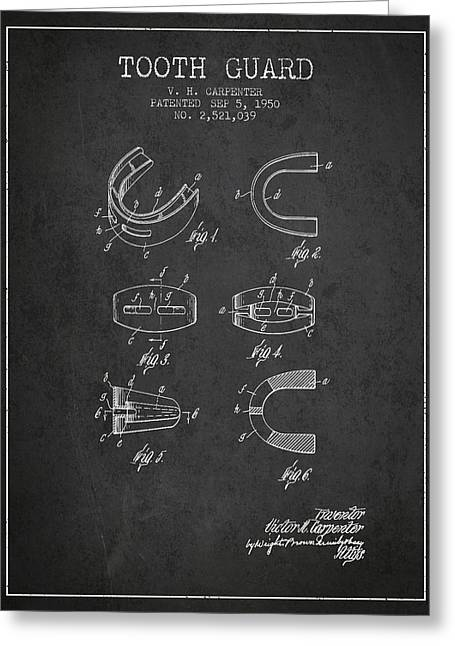 1950 Tooth Guard Patent Spbx16_cg Greeting Card by Aged Pixel