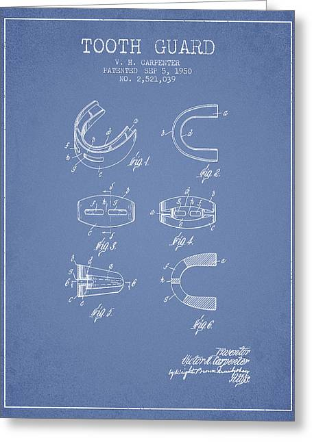 1950 Tooth Guard Patent Spbx16_lb Greeting Card by Aged Pixel