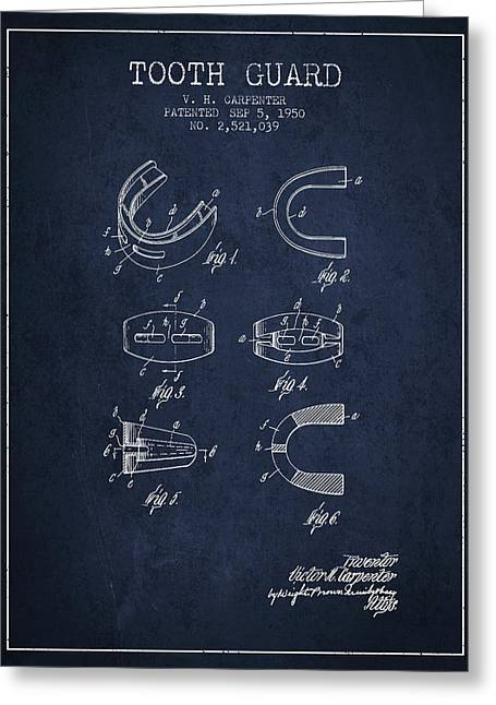 1950 Tooth Guard Patent Spbx16_nb Greeting Card by Aged Pixel