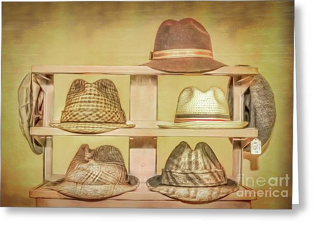 1950s Hats Greeting Card