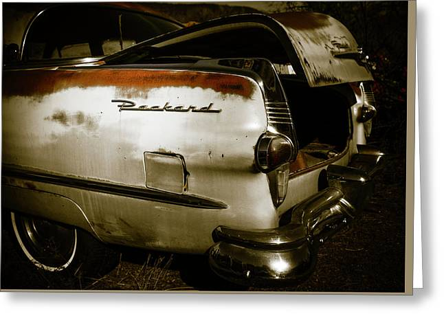 Greeting Card featuring the photograph 1950s Packard Trunk by Marilyn Hunt
