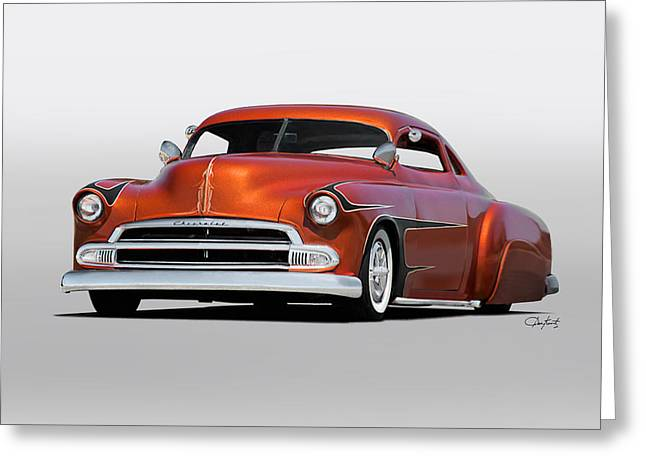 1951 Chevrolet Custom Coupe Greeting Card by Dave Koontz