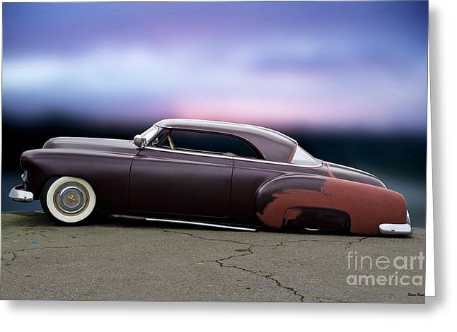 1951 Chevrolet 'tail Dragger' Custom Hardtop Greeting Card by Dave Koontz