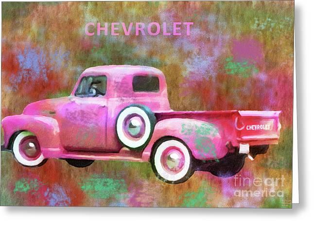 1951 Chevrolet Truck Custom Greeting Card