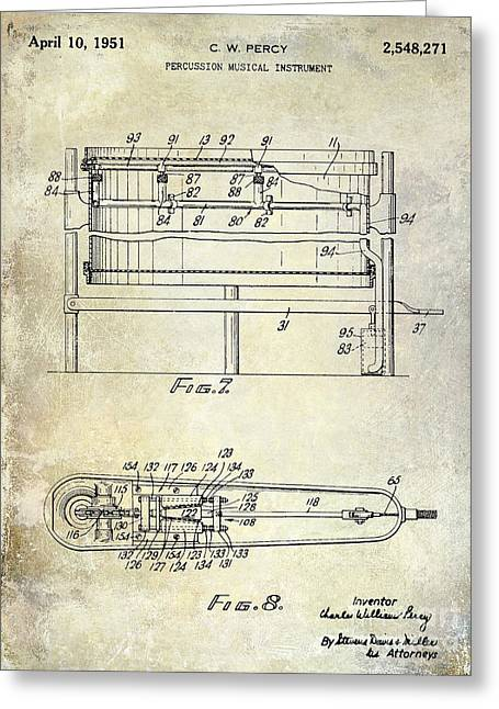 1951 Drum Patent  Greeting Card