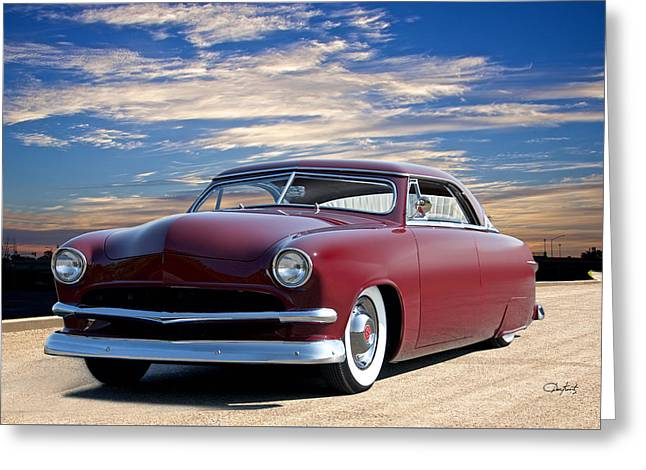 1951 Ford Custom Victoria 4 Greeting Card by Dave Koontz