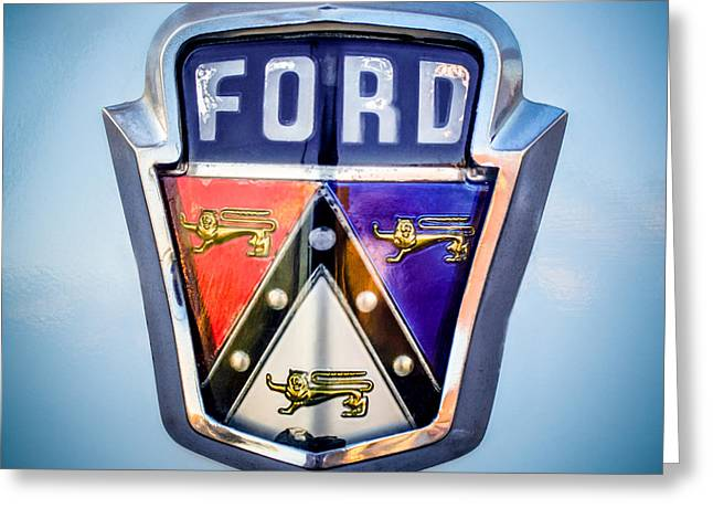 1951 Ford Emblem -0195c Greeting Card by Jill Reger