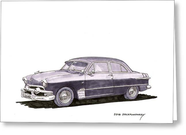 1951 Ford Two Door Sedan Greeting Card by Jack Pumphrey