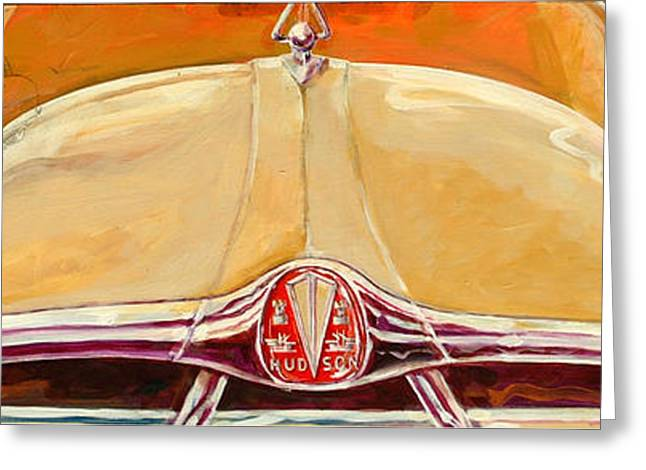 1951 Hudson Hornet Greeting Card by Ron Patterson