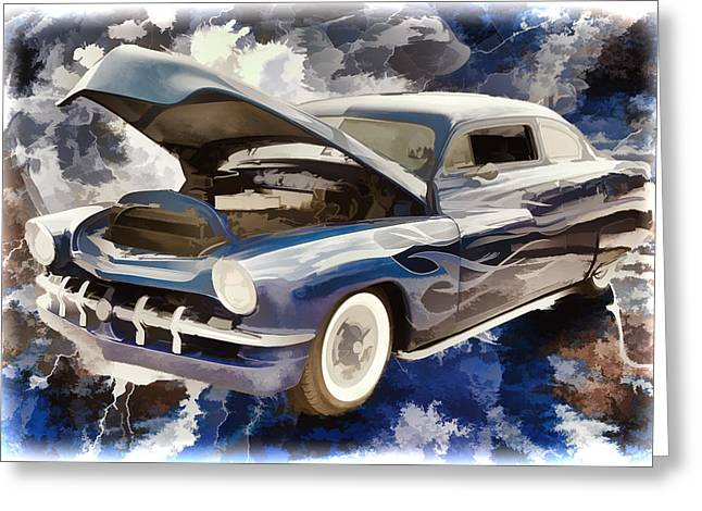 1951 Mercury Classic Car Painting 025.02 Greeting Card by M K  Miller