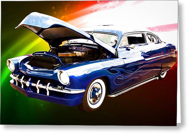 1951 Mercury Classic Car Painting 026.02 Greeting Card by M K  Miller