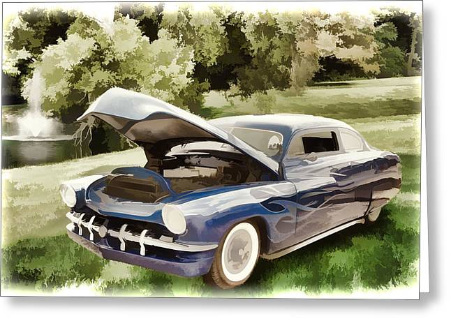 1951 Mercury Classic Car Painting 027.02 Greeting Card by M K  Miller